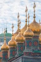 Domes Terem Palace Churches, Temple of Deposition Robe, Moscow Kremlin photo