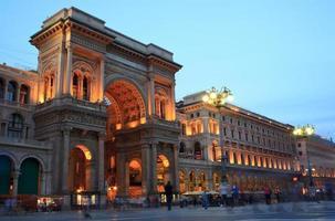 Galería vittorio emanuele ii en milán, italia