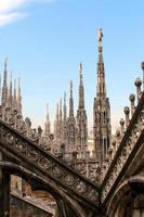 View of Milano Duomo's roof photo