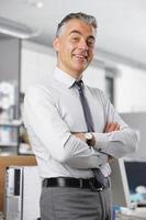 hombre de negocios sonriendo foto
