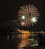 fogos de artifício da véspera de ano novo.