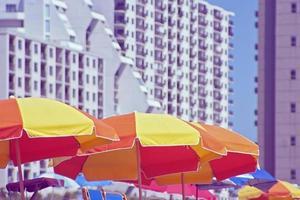 sombrillas de playa foto