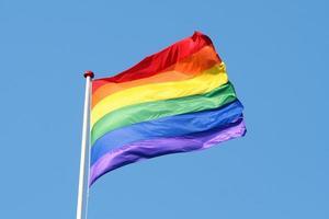 bandera del arcoiris foto