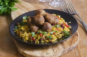 Falafels with couscous