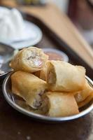 crispy meat crab spring rolls photo