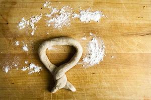 Rustic Homemade Pretzel with Flour