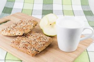 desayuno de pretzels foto