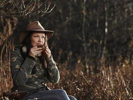 Female duck hunter photo