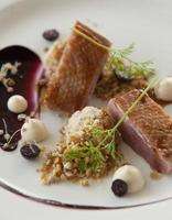 Grilled duck dish