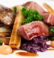 Roast Duck with Parsnips