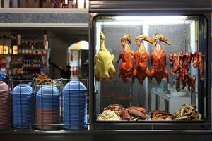tienda de arroz con pollo estilo asiático foto