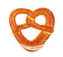 Delicious Bavarian pretzel in heart shape