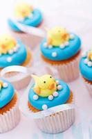 Baby shower cupcakes photo