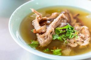 Lemon soup with duck
