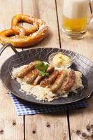 fried nuremberger sausages
