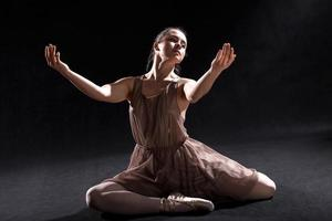 Dancer acting on a stage. photo