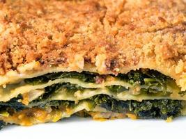 Lasagne with green kale,
