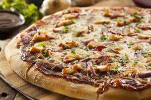 Homemade Barbecue Chicken Pizza photo