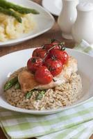 Chicken with rice photo
