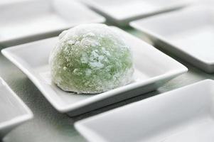 chá verde mochi