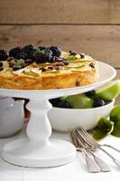 Kugel plato tradicional pastel de pasta al horno foto