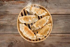 Chinese cuisine pan fried dumplings