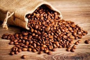 Coffee beans in the sack
