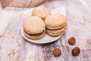 Macarons with hazelnut