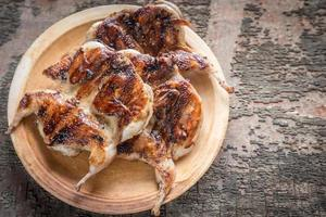 Grilled quails photo