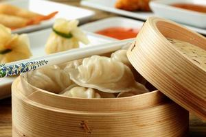 close up dumplings