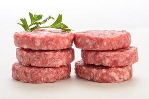 Raw burger photo