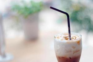 Ice coffee caramel