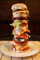 mega hamburguesa de carne foto