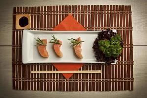 Salmon sushi Stock Image photo