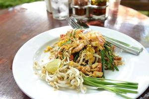 Pad Thai, stir-fried rice noodles, is one of Thailand's national