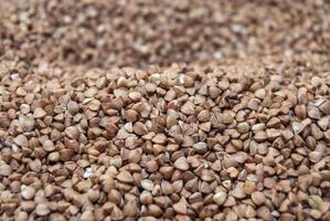 textura de trigo sarraceno crudo