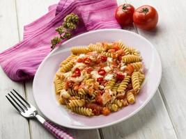 fusilli with mozzarella