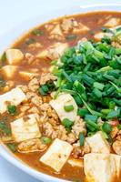 mabo tofu o mapo doufu el plato chino foto