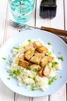 Tofu and cauliflower photo