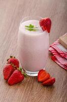 Strawberry smoothie photo