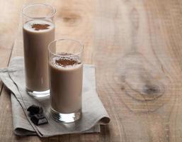 Chocolate and banana smoothie photo