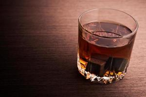 Glass of brandy photo
