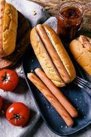 delicioso hot dog foto