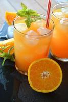 refreshing drink orange and mint photo