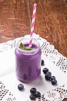 Blueberry smoothie photo