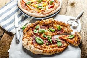 Rustic pizza photo