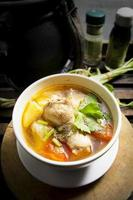 Chicken soup with potatoes.
