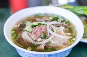 Vietnamese Pho Beef Noodle Soup photo