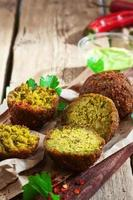 falafel ballen close-up