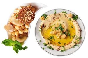 Hummus and falafel.